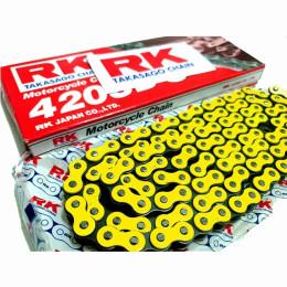 Cadena RK 420SB con140 eslabones Amarillo fluorescente