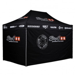Carpa plegable Stage6 R/T, con paredes, 3700 x 2500cm, altura variable, plegable, incluye 2 bolsas