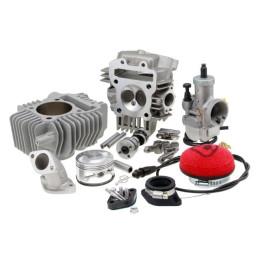 Kit completo TbParts de cilindro 180cc, culata racing V2 y carburador Ø28 , motores YX y Z 150/160cc