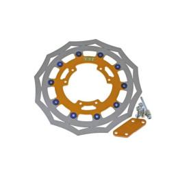 Disco de freno sobredimensionado (kit) TJT, incluye acople para pinza de serie, d.310mm, Derbi Senda Supermotard 2000-2002