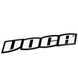 Pegatina Voca Racing Logotype blanco negro