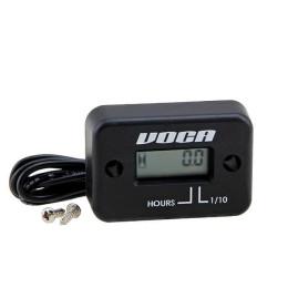 """Marcador VOCA Racing """"Hour-Meter"""", cuenta horas uso motor, con pila, resistente al agua, universal 2T/4T"""