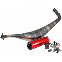 Escape Derbi Variant Racing V-Protos VOCA silenciador rojo