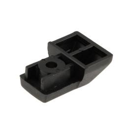 Punta terminal guias de suelo VD, 1 unidad, plástico negro, Vespa PX