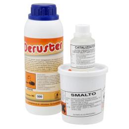 Tratamiento de protección anticorrosivos depósito VD, 0,25g resina, 62,5g catalizador y 0,5l Ácido fosfatado