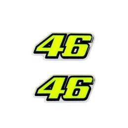 Pegatina 3D numero 46 de Valentino Rossi colection VR46