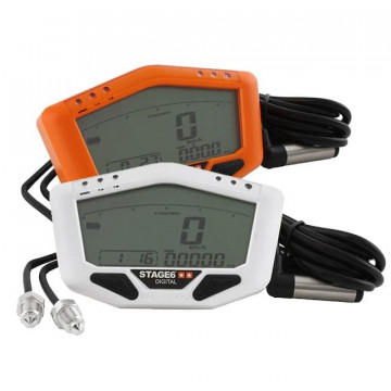 Marcador Stage6 White-/Orange-Line - KMH/RPM/TEMP/KM