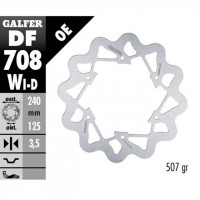 Disco de freno delantero derecho Wave Derbi DRD Limited SM Galfer