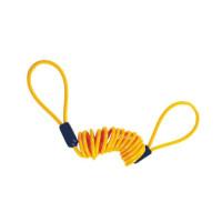 Cable espiral de aviso candado de disco, cable de color rojo o amarillo 1,50m