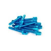 "Tornillos para el carter (Kit) STR8-Tuning! ""NewStyle"" Piaggio/Gilera - azul (aluminio)"