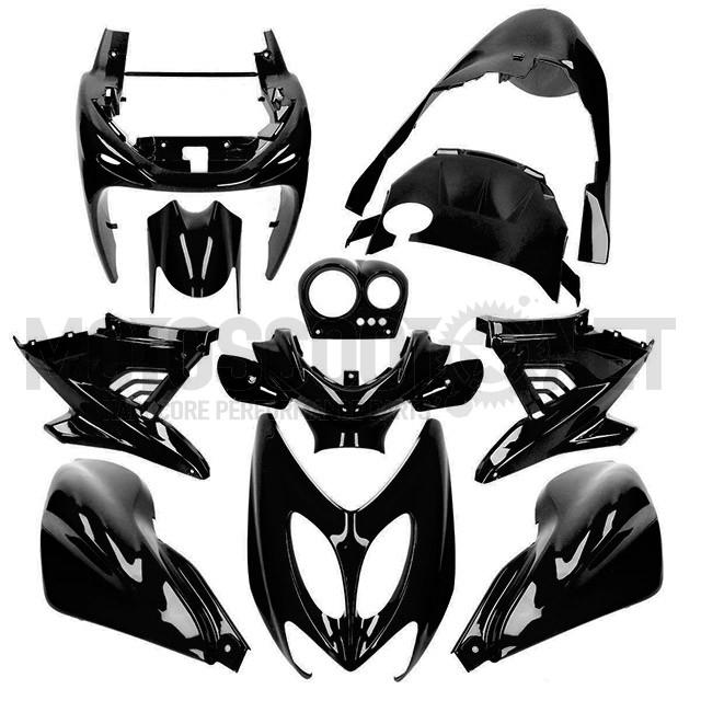 Carenados Yamaha Aerox / MBK Nitro hasta 2013 11 piezas AllPro negro metálico