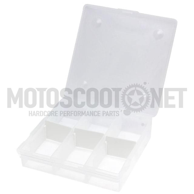 Caja de 15 compartimentos Motoforce, transparente (180mm x 100mm x 30mm)