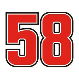 Pegatina numero 58 Marco Simoncelli