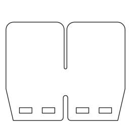 Lamelas de carbono para caixas VForce4R Blaster / RD 350