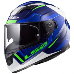 Capacete integral LS2 FF320 Stream Evo Axis Blue White