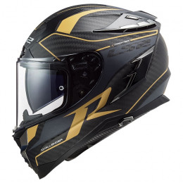 Casco Integral LS2 FF327 Challenger CT2 GRID Carbono mate Dorado antigüo