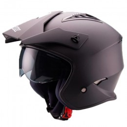 Casco Trial Unik CT-07 con gafas Negro mate