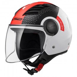 Casco Jet LS2 OF562 Airflow Condor blanco/rojo/negro