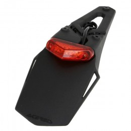 Portamatrícula Acerbis X-LED homologado cristal rojo - negro