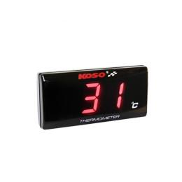 Medidor de Temperatura Koso SUPER SLIM 0-120° iluminado Rojo Rosca 1/8