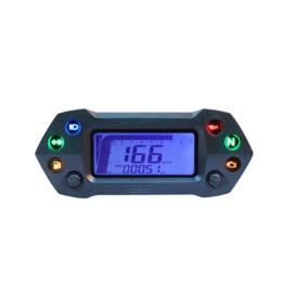 Tacómetro DB-01R+ KOSO Digital universal Speed RPM ODO TRIP TIME FUEL iluminado azul