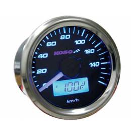 Velocímetro KOSO GP-Style 48 (universal 2T/4T) - iluminado Azul, Gasolina, Cuentakilómetros