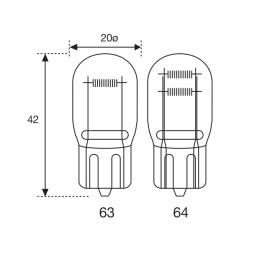 Bombilla T20 12V 21/5W doble filamento