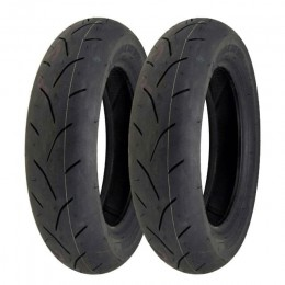Jogo de pneus Bridgeston BT-601SS, dianteiro YCX100/90-12, traseiro YCY 120/80-12