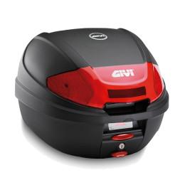 Baúl Monolock® E300N2 Tour Bloque Micro 2 Catadriópticos Rojo 30 lts Givi