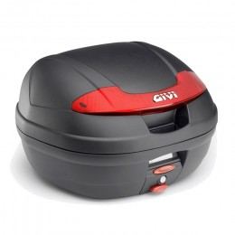 Baúl Monolock® E340 Vision Catadriópticos Rojo 34 lts Givi