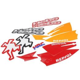 Set pegatinas HEBO-Repsol, para casco
