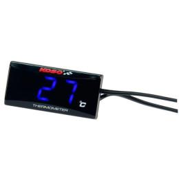 Medidor de Temperatura Koso SUPER SLIM 0-120° luz azul Rosca 1/8
