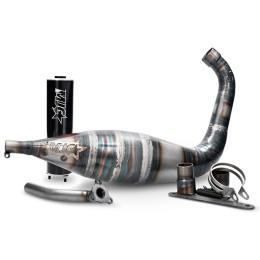 Escape Derbi/AM6 90/100cc silenciador negro MJC