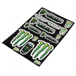 Pegatinas (set) Monster Energy (44cm X 29cm), 15 pegatinas, bordes transparentes
