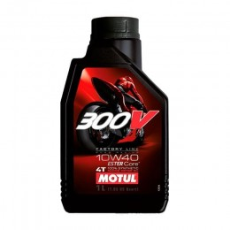 Óleo sintético 4T Motul 300V Factory Line 10W-40
