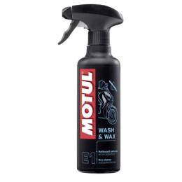 Limpia carenados en seco con cera protectora Motul E1 Wax 400ml