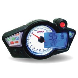 Velocímetro Koso RX1N GP Style Display branco, luz azul (CE)