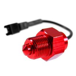 Sensor de temperatura Koso M14x1.25 para marcadores Stage6 e Koso -  Peugeot, Minarelli AM6 (Conector preto)