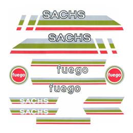 Kit pegatinas Sachs Fuego Gris