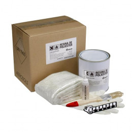 Kit fibra de vidro VOCA Style, incluí fibra, resina, activador, pincel e luvas