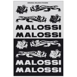 Sticker Set Malossi Black/Silver 12cm