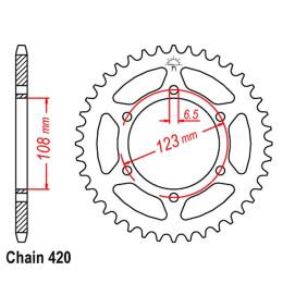 Sprocket Derbi GPR 50 R >1997 Z-52 420 steel