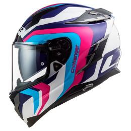 Full-Face Helmet LS2 FF327 Challenger Galactic - White/ Blue / Pink