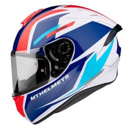 Helmet MT Helmets FF106PRO Targo Pro Sound D15 Red / Glossy White