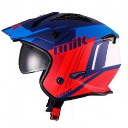 Helmet Trial Unik CT-07 R-Graff with visor - Blue/Red/White