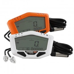 Meter Stage6 White/Orange-Line KMH/RPM/TEMP/KM