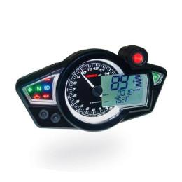 Speedometer KOSO RX1N GP Style CE - Display Black / White Light