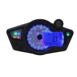 Speedometer Koso RX1N GP Style CE - Display White / light Blue