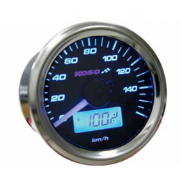 Speedometer KOSO GP-Style 48 Gas/KMS universal 2T/4T - Blue Light
