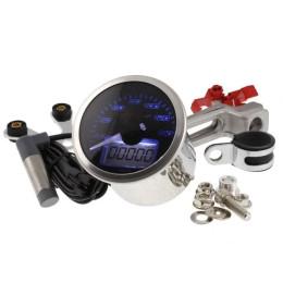Speedometer KOSO Eclipse Style Speed/ODO/TRIPO 0-160 KM/H d=55mm- Blue light